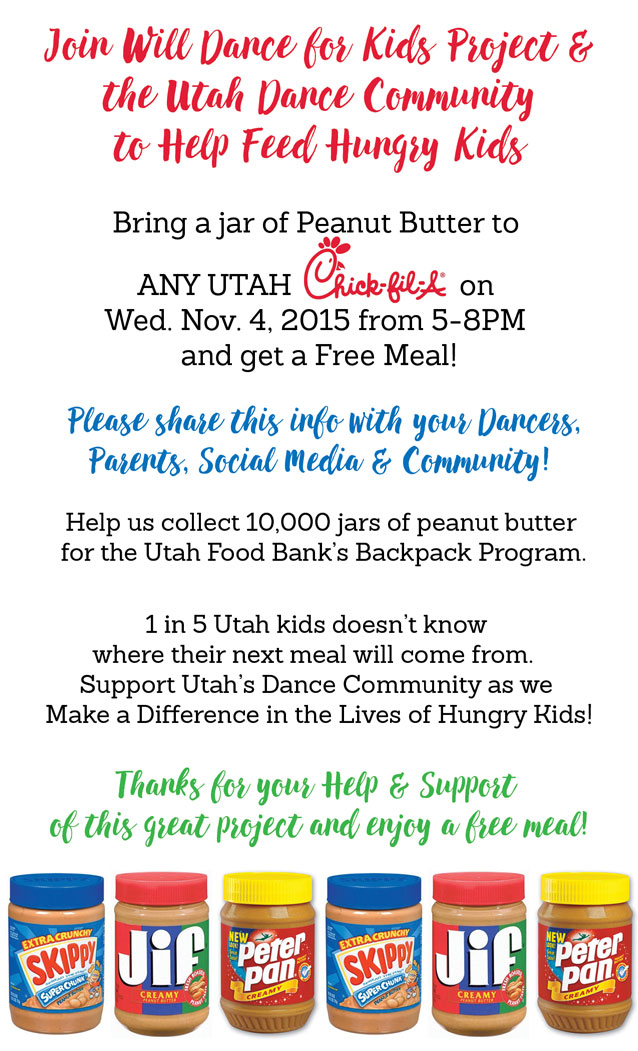 Join the Utah Dance Community and Chick-fil-A to Help Feed Hungry Kids